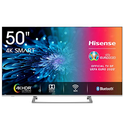 Hisense H50BE7400 Smart TV LED Ultra HD 4K 50', Dolby Vision HDR, Wide Colour Gamut, Unibody Design,Tuner DVB-T2/S2 HEVC Main10 [Esclusiva Amazon - 2019]