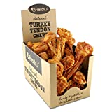 AFreschi Turkey Tendon for Dogs, Premium All-Natural, Hypoallergenic, Long-Lasting Dog Chew Treat, Easy to Digest, Alternative to Rawhide, Ingredient Sourced from USA, 10 Units/Box Bone (Large)