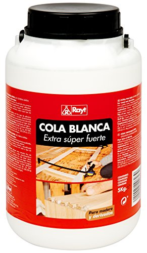 Rayt | Cola blanca extra rápida múltiples usos: madera, papel, cartón, cerámica y todo tipo de materiales porosos | 5kg | Ref. 296-23