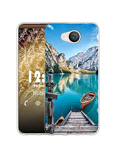 Sunrive Kompatibel mit Elephone P9000 Lite Hülle Silikon, Transparent Handyhülle Schutzhülle Etui Hülle (Q See)+Gratis Universal Eingabestift MEHRWEG
