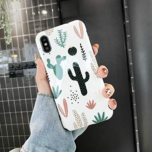 """iPhone XR Case, iPhone XR Cactus Case Slim Fit Ultra Thin Protective Phone Case Cover Shell for Women Girls Soft Silicone Rubber Gel Bumper Flexible TPU Case Cover for Apple iPhone XR 6.1"""""""