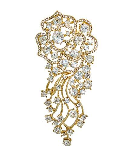 TTJewelry. Broche para novia, diseño de rosas y cristales de estrás