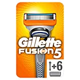 Gillette Fusion 5 Rasoir Homme + 6 Lames de Recharges [OFFICIEL]
