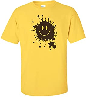 All Things Apparel Smiley Face with Mud Splatter Men's T-Shirt