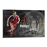 JHDSL Philipp Lahm Poster Deutscher Fußballer, dekoratives