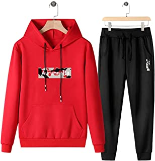 Men's Athletic Running Tracksuit Sports Sets Casual Sweatsuit M-5XL,Red,5XL