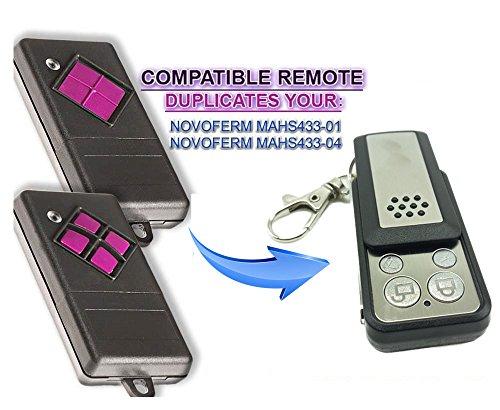 Dickert MAHS433-01 | MAHS433-04 Universal Garagentor Fernbedienung Sender, 4 Kanal Kompatibel Handsender, 433.92 Mhz