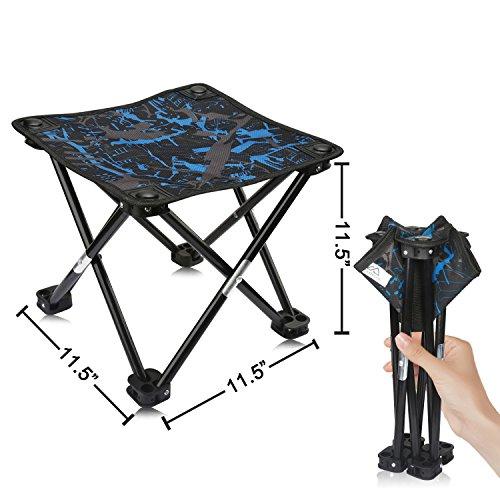 Camping Hocker Tragbarer Klapphocker Tragbarer Stuhl Mini Klappbarer Hocker Angelhocker für Erwachsene Angeln Wandern Gartenarbeit und Strand mit Tragetasche (Tarnung)