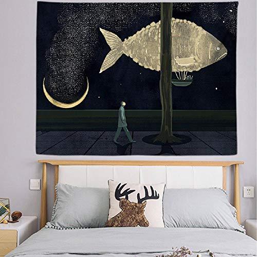 Tapiz nórdico tapiz colgante de pared decoración del hogar tela de pared decorativa manta de pared 150X200CM