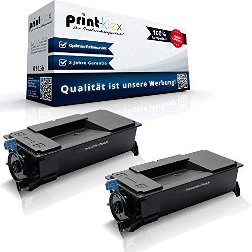 2x Kompatible Tonerkartuschen für Kyocera ECOSYS P3050 dn P3055 dn P3060 dn 1T02T80NL0 TK 3170 K TK-3170 K TK3170 Schwarz Black - Office Print Serie