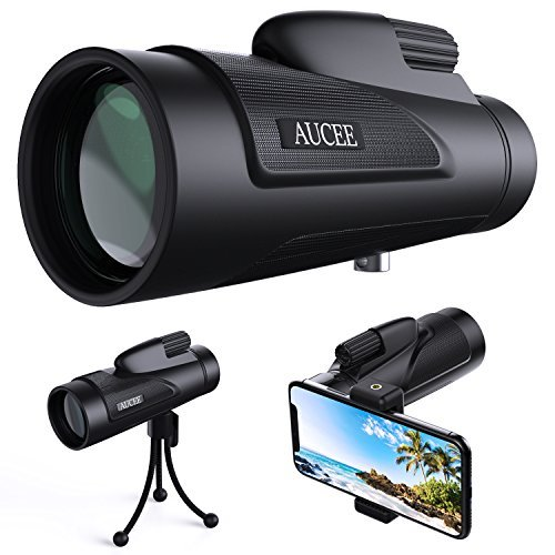 Why Choose 12x50 Monocular Telescope for Adults, AUCEE HD High Power Bak4 Prism FMC Monocular Compac...