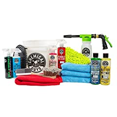 Makes a Great Gift: This kit is the ultimate collection of car wash supplies, and is the gift that keeps on giving for any car buff, truck enthusiast or classic car fan. It contains everything needed to clean and maintain a beautiful shine on any car...