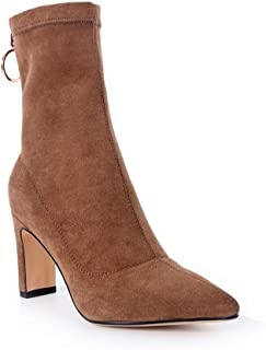 BalaMasa Womens Nubuck Solid Warm Lining Urethane Boots ABM12932