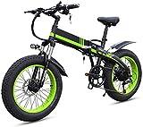 Bicicleta eléctrica de nieve, Bicicleta eléctrica plegable E-Bike 350W Motor Bicicleta eléctrica de montaña para adultos Bicicleta / viaje Ebike, Profesional 7 veloz Engranajes de transmisión LED Pant