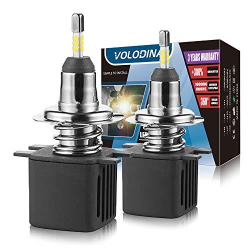 H7 LED Headlight Bulbs, Mini Size 360° lighting 100% Extra Night Visibility With Canbus Decoder, Korean LED Chips 11200lm 6500K Cool White Fog Light