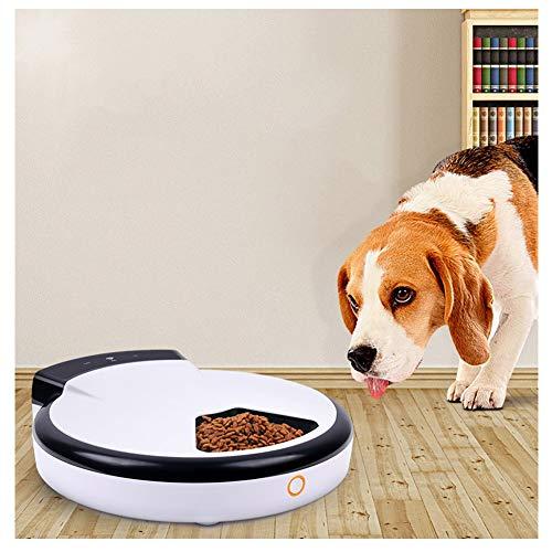 SUPER33 Alimentador de Mascotas Inteligente Dispensador automático de Comidas Alimentador automático para Mascotas de Perros y Gatos