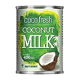 Coco Fresh - Leche de Coco - Proveniente de la Pulpa de Cocos de Palmeras de Tailandia - 400 ml