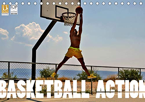 Basketball Action (Tischkalender 2021 DIN A5 quer)