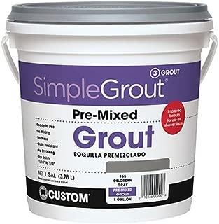 Custom PMG1651 1-Gallon Simple Premium Grout, Delorean Gray,