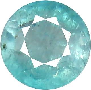 Deluxe Gems 0.71 ct Round Cut (6 x 6 mm) Unheated/Untreated Greenish Blue Grandidierite Natural Gemstone