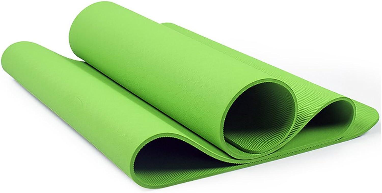 Yogamatte LXF TPE Anfnger Yoga Matte Fitness Matte High Density Rebound Rutschfeste Umweltschutz Weich und Komfortabel Multi-Farbe Optional (183 cm X 61 cm) 8mm