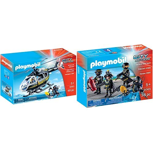 Playmobil 9363 - SEK-Helikopter Spiel &  9365 - SEK-Team Spiel