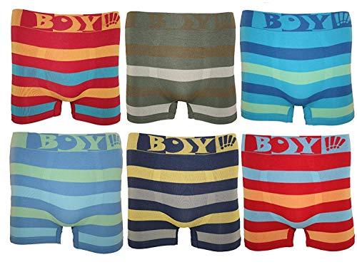 BestSale247 12 Stück Kinder Jungen Boxershorts Unterhosen Kids Unterwäsche Mikrofaser 98 bis 164 (98-104, Boy)