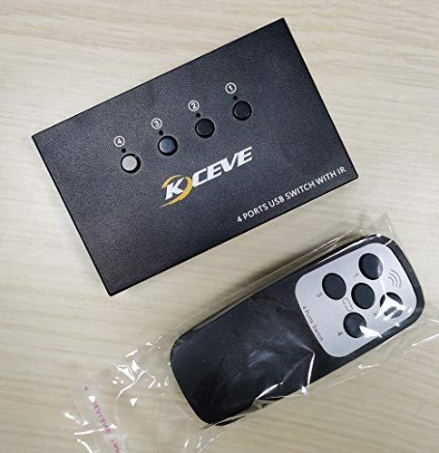 Conmutador USB 2.0, 4 en 4 salidas, para impresoras, escáner, teclados, memorias USB, discos duros, ratones