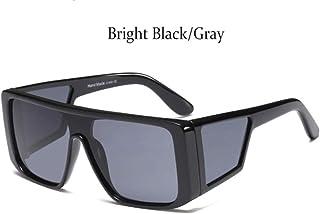152b359b6e Cranky Naranja Espejo Sobredimensionado Gafas de Sol cuadradas para Mujeres  Retro Gafas de Sol para Hombre