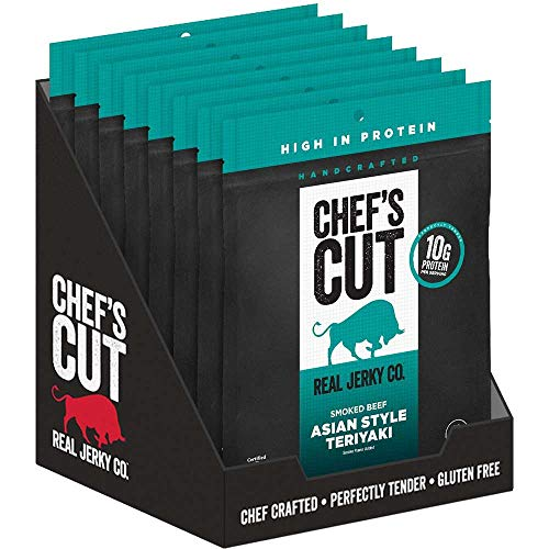 Chefs Cut Asian Style Teriyaki Smoked Beef Jerky, 2.5 Ounce -- 8 per case.