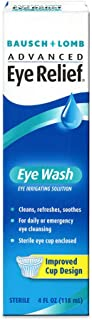 B&L Eye Wash Size Bausch & Lomb Advanced Eye Relief, Eye Wash Eye Irrigating Solution (Pack of 6)