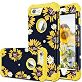 iPhone 8 Case, iPhone 7 Case, Fingic Sunflower 3 in 1 Heavy Duty Protection Hybrid Hard PC Soft Silicone Rugged Bumper Anti Slip Full-Body Shockproof Protective Case for Apple iPhone 7/8 (4.7'),Yellow