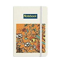 オレンジ色のモダンアートリリー・カメリア ノートブッククラシックジャーナル日記A 5