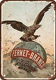 DOGT Metal Tin Sign 8x12 Inches 1892 Fernet-Branca Liqueur Vintage Look Reproduction Metal Tin Sign