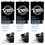 Tom's of Maine Fluoride-Free Activated Charcoal Whitening Toothpaste, Peppermint, 4.7 oz. 3-Pack