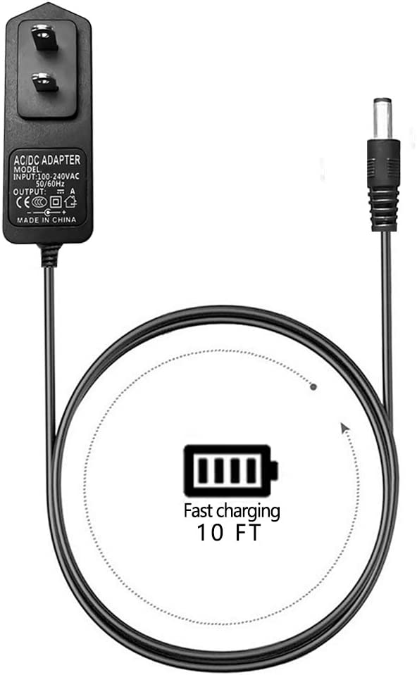 9V AC DC AC Power Supply Adapter Charger Cable Cord Fit for LeapPad 1 and LeapPad 2, LeapsterGS Explorer, Leapster Explorer and Leapster 2 Charger (6.6 FT)