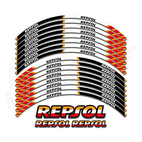 Calcomanías de la Rueda de la Motocicleta Pegatinas Reflectantes Calcomanías 17 Pulgadas Rim para Repsol CBR1000RR CBR600RR F5 CBR 1000 600 Pegatinas para Moto