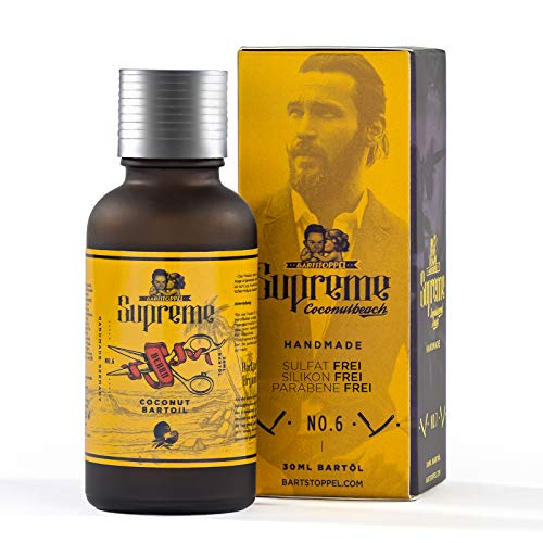 ● Bartöl Kokos Cocos & Sweet Tropic Duft ● Beard Oil ● ORIGINAL Bartstoppel© Austria ● natürliche Bartpflege