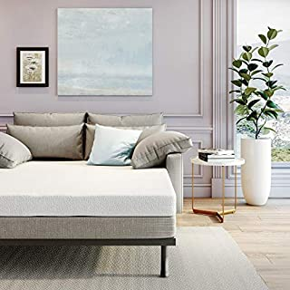 Classic Brands 4.5-Inch Memory Foam Replacement Sleeper Sofa Bed Mattress, Full, White
