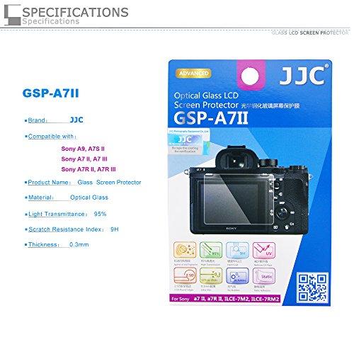 PROfoto.Trend/JJC Protector de Pantalla LCD de Cristal Líquido óptico para Sony A9/ILCE 9, A7S II/ILCE-7SM2, A7 II/ILCE-7M2, A7R II/ILCE-7RM2