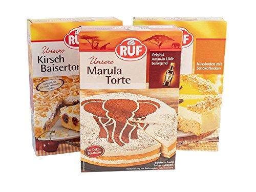 RUF Topseller Torten Premium B: RUF Marula Torte 405g, RUF Kirsch Baisertorte 350g, RUF Eierlikör Torte 350g
