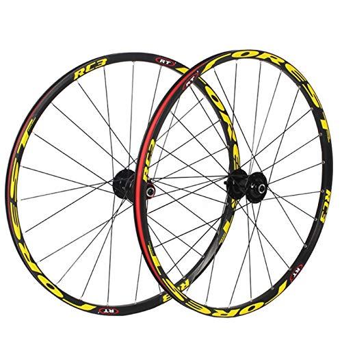 Accesorio de bicicleta de ejes de liberación rápid 26/27.5 pulgadas ruedas de bicicleta de montaña, conjunto de ruedas de rueda de bicicleta MTB Freno de llanta de disco 8 9 10 11 Rodamientos sellados