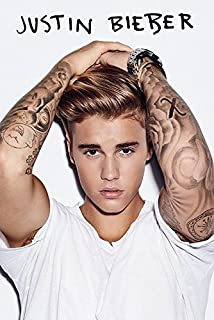 Justin Bieber - Music/Personality Poster/Print (White Shirt & Tattoos) (Size: 24 inches x 36 inches)