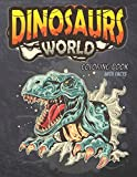 Dinosaur World Coloring Book with Facts: Educational Realistic Dinosaur Designs Coloring Book , Realistic Dinosaur Designs Coloring Book With TRex, ... Diplodocus ( for Kids Ages 8-12 )