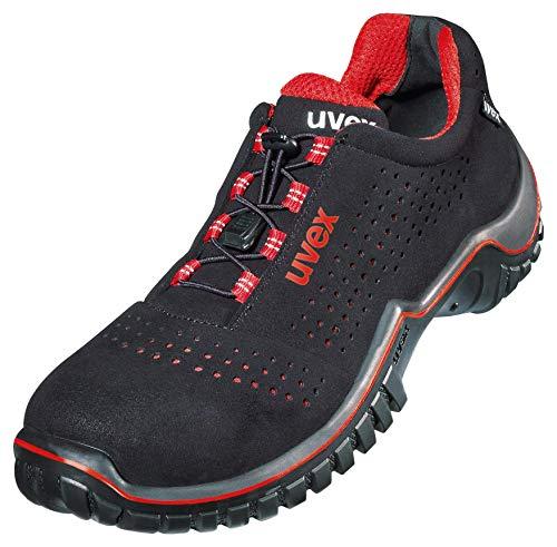 Uvex Motion Style - Sicherheitsschuhe S1 SRC ESD - Rot-Schwarz, Größe:44