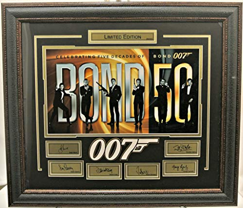 James Bond 50 year limited edition with laser signatures