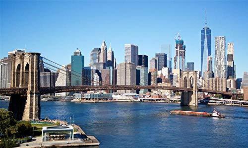 HCYEFG Rompecabezas Rompecabezas 1000 Piezas Skyline De Nueva York - Puente De Brooklyn Puzzle De 1000 Piezas