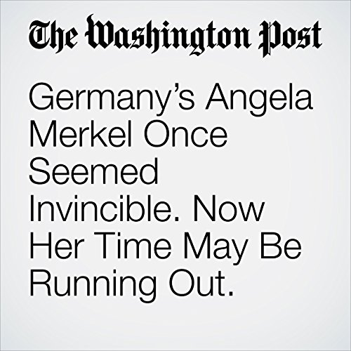 Germany's Angela Merkel Once Seemed Invincible. Now Her Time May Be Running Out. copertina
