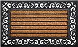 ID Mat Tapis Paillasson, Fibres de Coco Naturelles sur Cadre en Caoutchouc, Beige, 45 x 75 cm