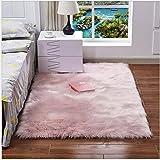 NoNo Wohnzimmer Teppich Moderne plüsch Teppich Dekoration kann als matratze pad sofakissen rosa 100...